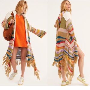 """🆕FREE PEOPLE """"Beach Party"""" Hooded Cardigan Duster"""